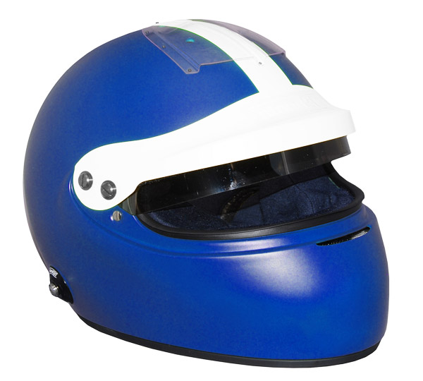 Stock blue Vintage IVOS-Double Duty helmet with peak