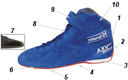 AXV Low Cut racing boots technical data